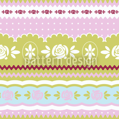 Little Rosy Ring Repeating Pattern