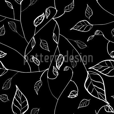 Nachts Im Blätterwald Vektor Ornament