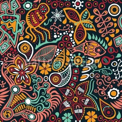 Von Blumen Träumen Vektor Muster