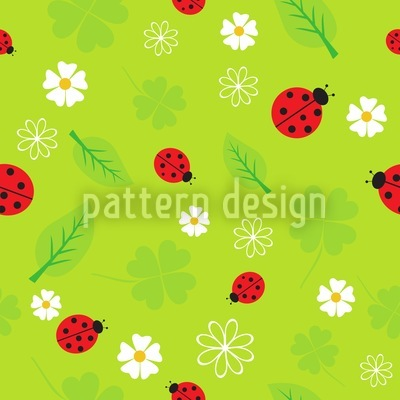 Ladybug Luck Repeat Pattern