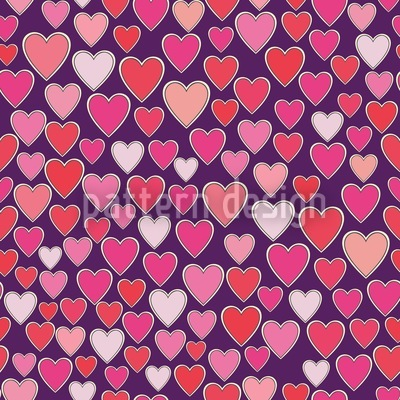 Liebe Ist Überall Vektor Muster
