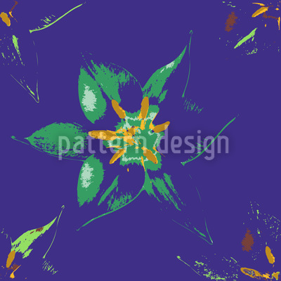 Tropical Blossom Seamless Vector Pattern