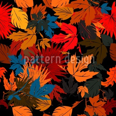 Leaves In The Bed Repeat Pattern