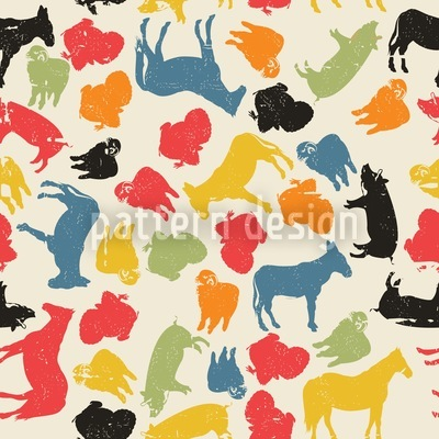 Animals On Our Farm Vector Ornament