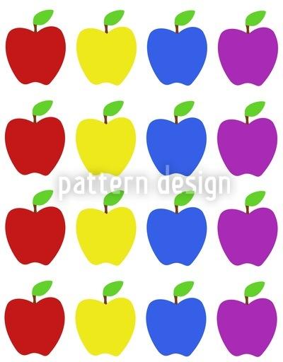 Apfel Kunterbunt Designmuster