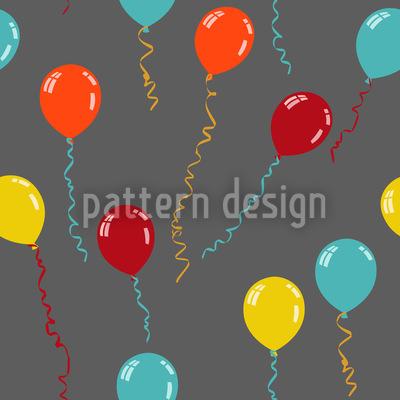 Party Ballone Nahtloses Vektor Muster