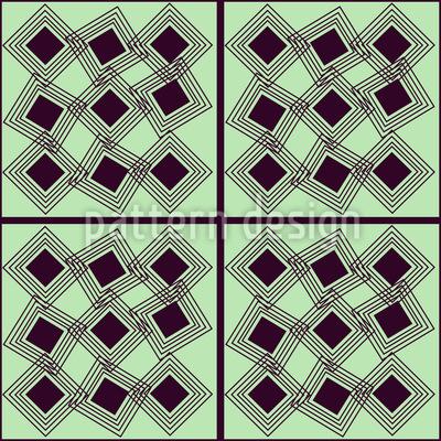 Square In Square Vector Ornament