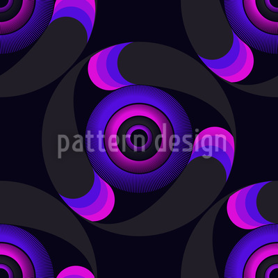 Oracle Circles Seamless Pattern
