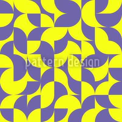 Eulatik Floral Nahtloses Vektor Muster