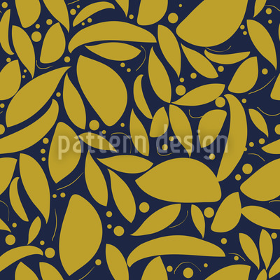 Gold Leaf Seamless Vector Pattern