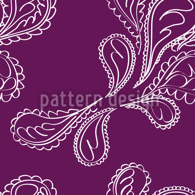 Purpuri Paisley Vector Pattern