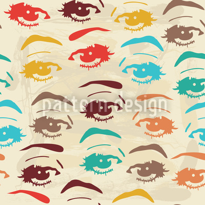 Pop Art Look Pattern Design