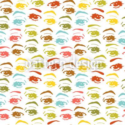 In Ihren Augen Nahtloses Vektor Muster
