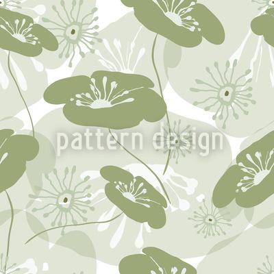 Blumen Erwachen Rapportiertes Design