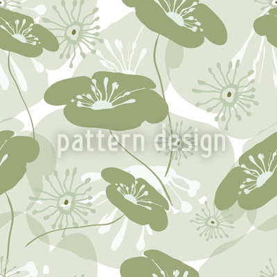 Flowers Awake Repeating Pattern