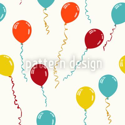 Fly Away My Balloon Seamless Pattern