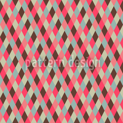 Checks Downhill Seamless Vector Pattern