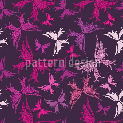 Polynesian Butterflies Seamless Vector Pattern