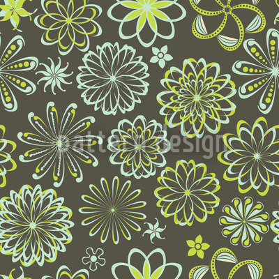Flowers Of Natural Science Pattern Design
