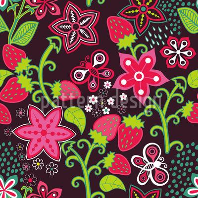 In Mamis Erdbeer Paradies Nahtloses Muster