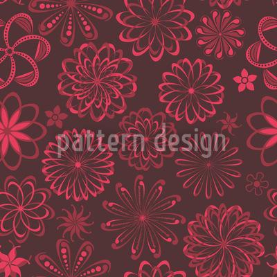 Blumen Liebesserum Nahtloses Vektor Muster