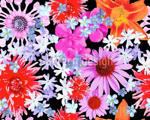 Flower Of Summer Repeating Pattern