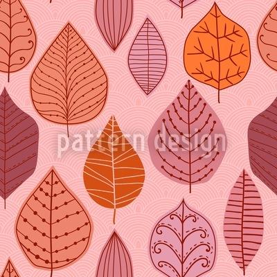 Blatt Sammlung Nahtloses Vektor Muster