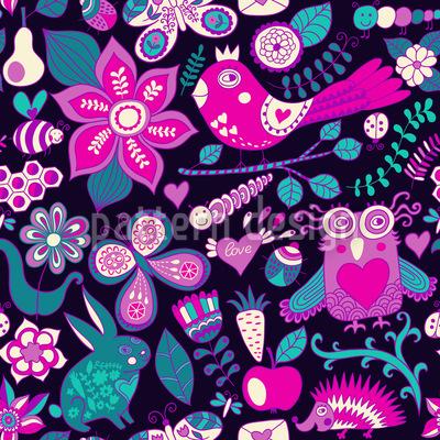 Valentinstag Im Zauberwald Muster Design