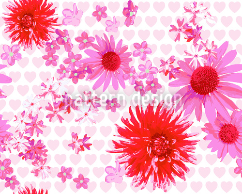Sweet Blossoms Noise Seamless Pattern