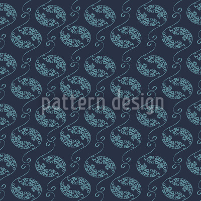 Corals And Ornats Repeating Pattern