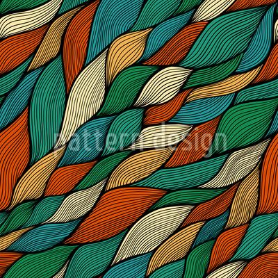 Rusalkas Braided Hair In Autumn Pattern Design