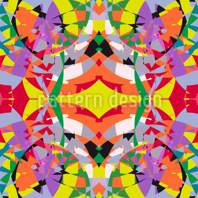Buntglas Mosaik Musterdesign