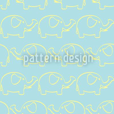 Elephant March Pattern Design
