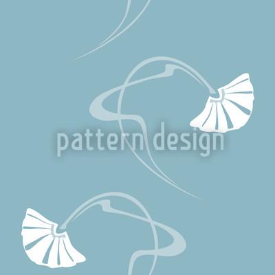 Burlesque Sterling Blue Pattern Design