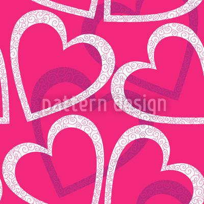 Love Love Love Seamless Vector Pattern