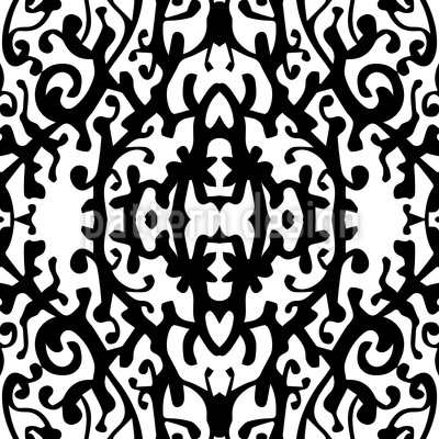 Snow White Silhouette Repeating Pattern