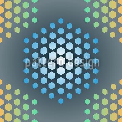 Eisheilige Hexagons Rapportmuster