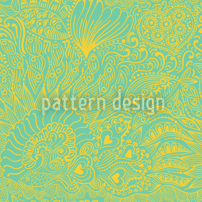 Riffgarten Im Frühling Muster Design