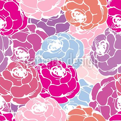 Rosen Bouquet Muster Design