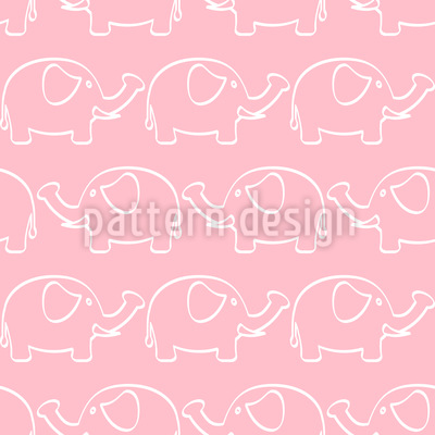 Baby Elefanten Parade Vektor Muster
