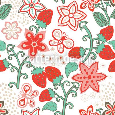 Süsses Erdbeer Paradies Vektor Design