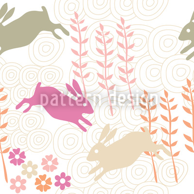 Funny Bunny Hop Repeating Pattern