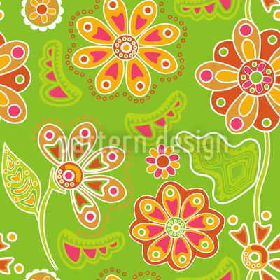 Floraler Zauber Nahtloses Muster