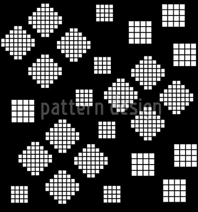 Mosaic Geometry At Night Seamless Vector Pattern