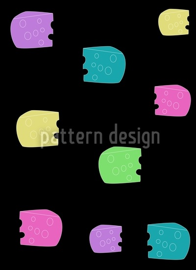 Beware Of Cheese Vector Pattern