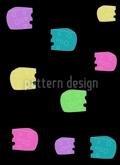 Vorsicht Käse Vektor Muster