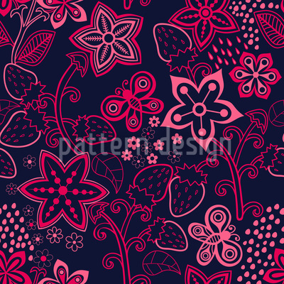 Forest Berry Paradise Pattern Design