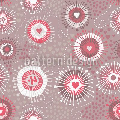Herzschläge Muster Design