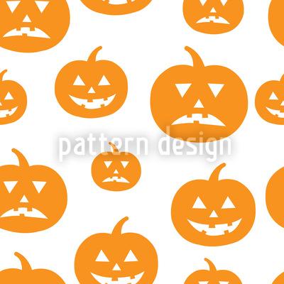 Halloween Pumpkins Vector Pattern