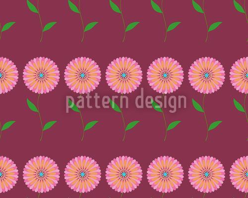 Full Bloom Seamless Vector Pattern